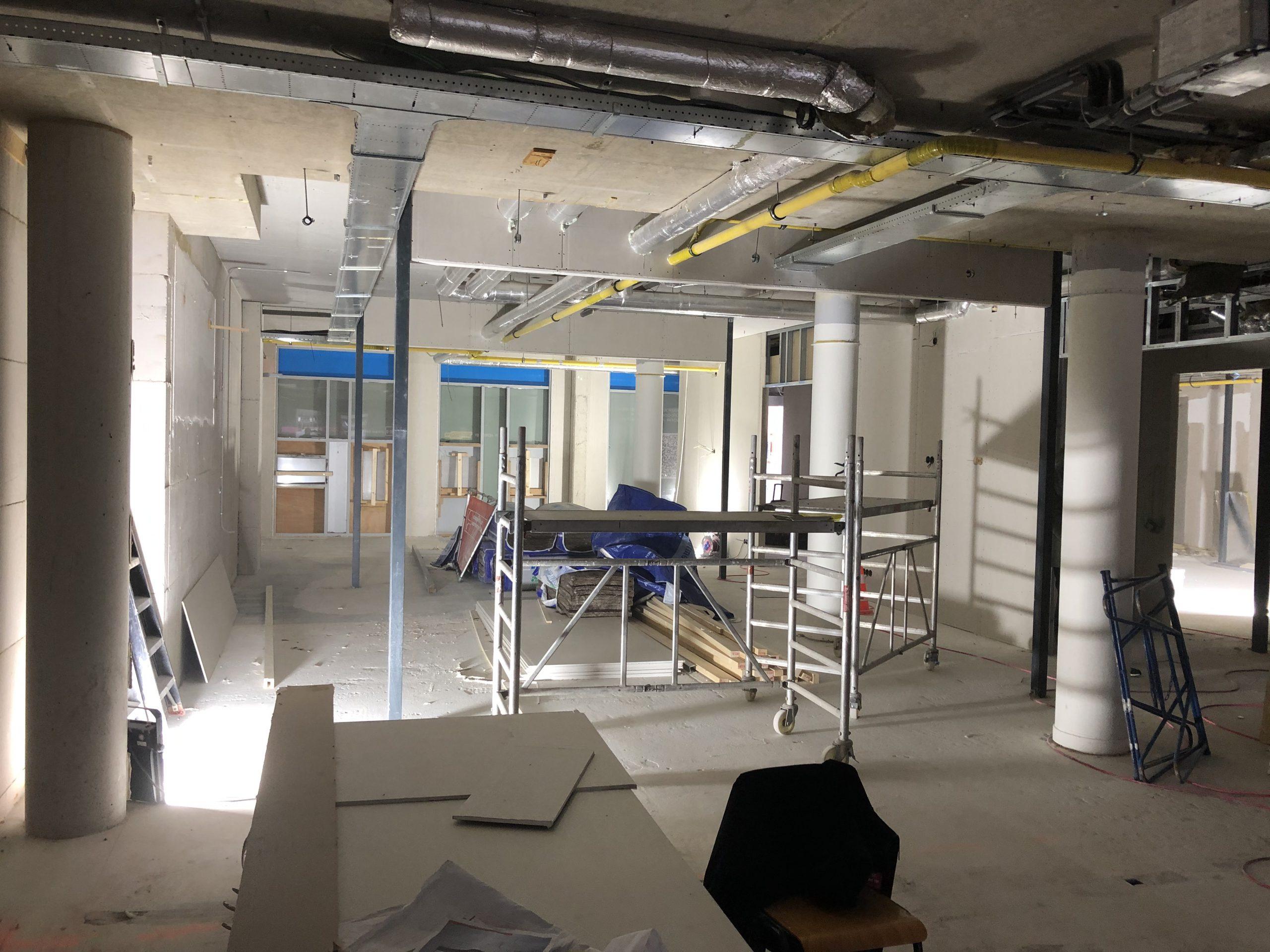 Tweede vestiging Harbor Gym under construction.